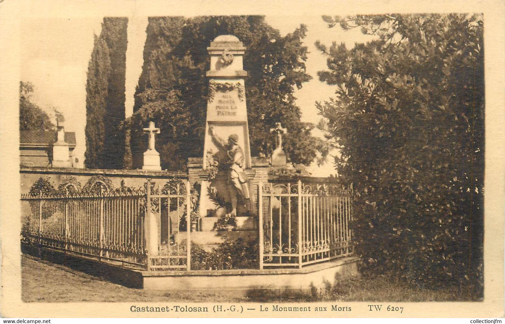 "CPA FRANCE 31 ""Castanet Tolosan, Le Monument Aux Morts"" - Other Municipalities"