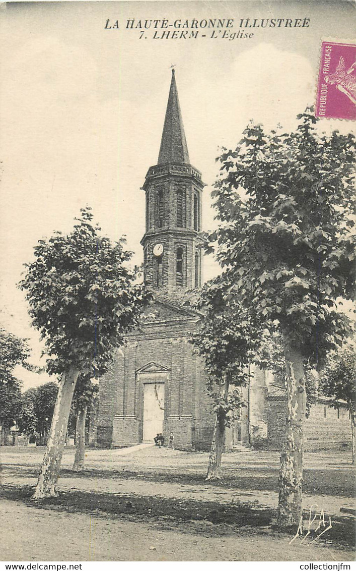 """CPA FRANCE 31 """"Lherm, L'Eglise"""" - Other Municipalities"""