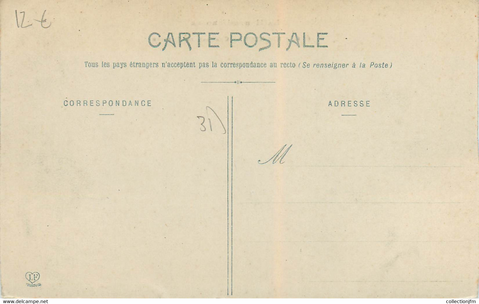 """CPA FRANCE 31 """"Fronton, Chateau De Lafitte"""" - Other Municipalities"""