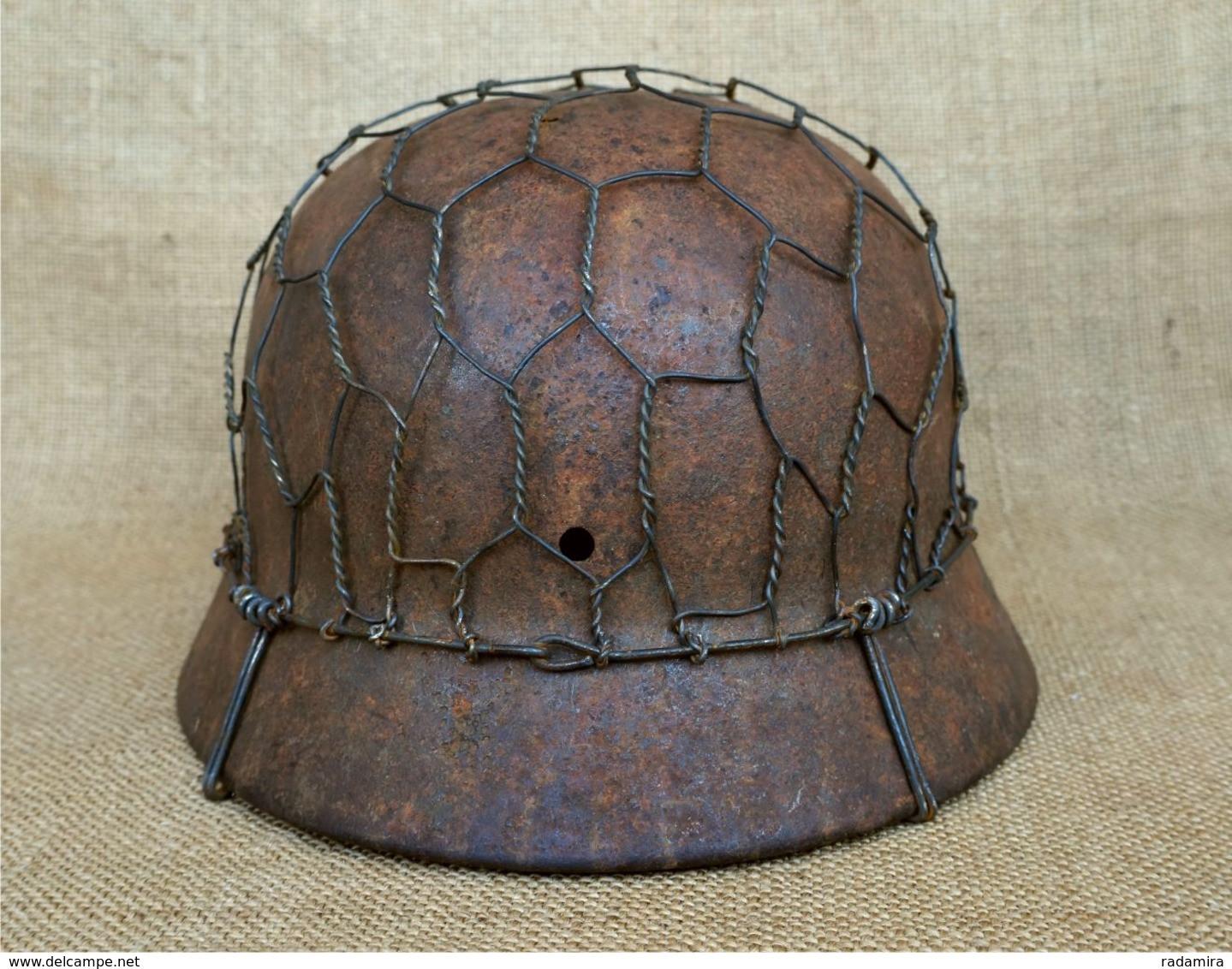 Uniformen   Net steel helmet   Netz Stahlhelm M20/20/20 size 20 ...