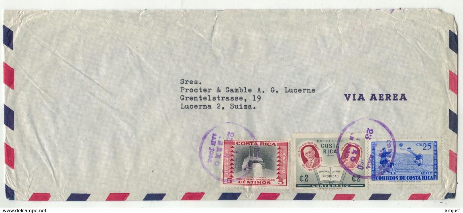Costa Rica // Lettre Pour La Suisse (Lucerne) 1960 - Costa Rica