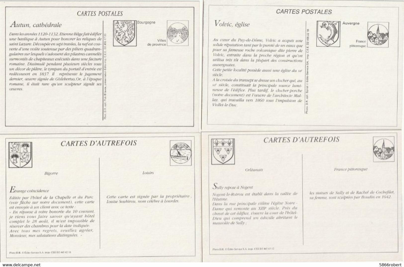 LOT 5 J : 12 REPRODUCTIONS DE CARTES POSTALES ANCIENNES DES SCENES DE DIVERS DEPARTEMENTS ET THEMES VOIR SCANS - Unclassified