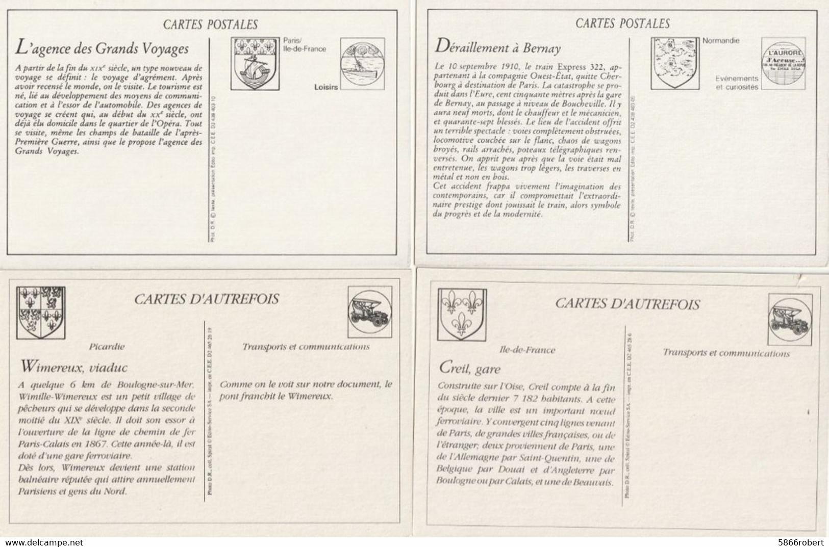 LOT 7 J : 12 REPRODUCTIONS DE CARTES POSTALES ANCIENNES DES SCENES DE DIVERS DEPARTEMENTS ET THEMES VOIR SCANS - Otros