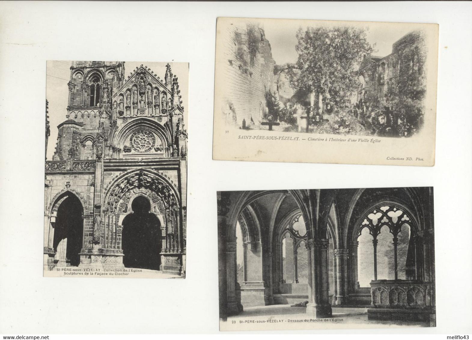 Saint Pere Sous Vezelay - Lot N°2 De 10 CPA (Toutes Scannées) - 5 - 99 Postcards