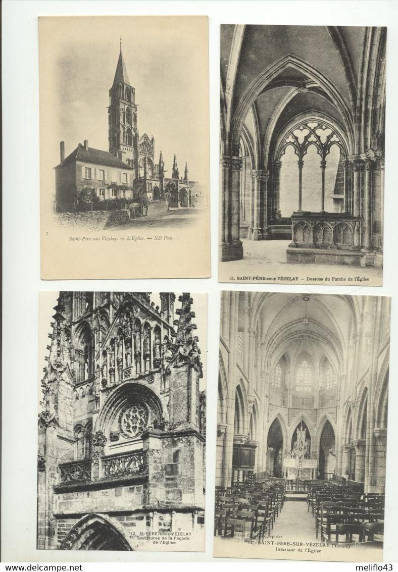 Saint Pere Sous Vezelay - Lot N°1 De 10 CPA (Toutes Scannées) - 5 - 99 Postcards