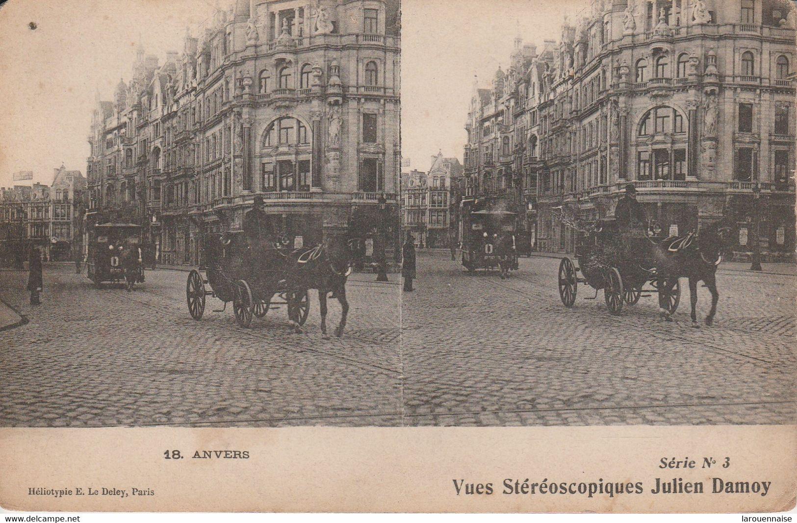 Belgique - ANVERS - Vues Stéréoscopiques Julien Damoy - Cartoline Stereoscopiche