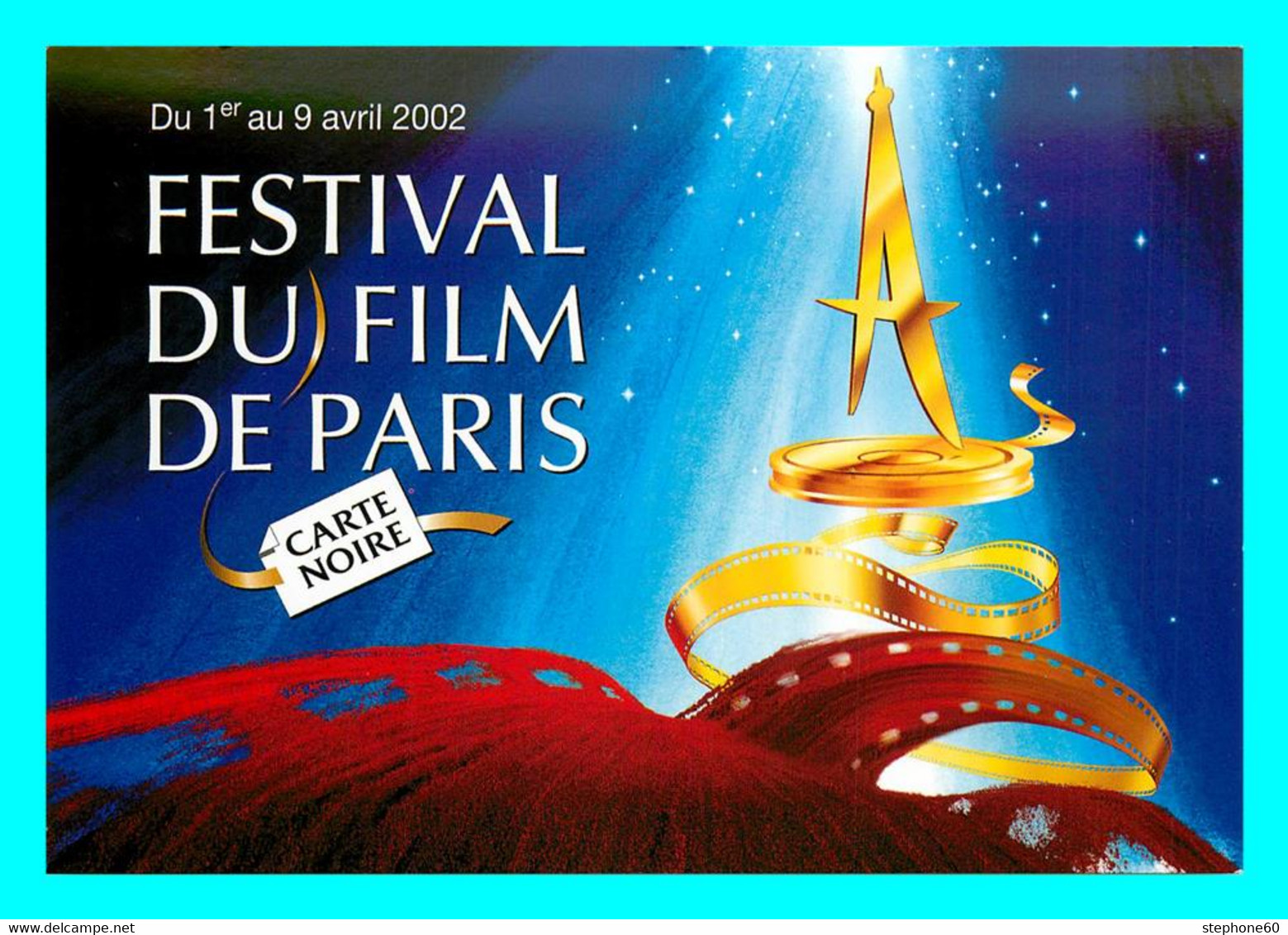 A757 / 345 Carte Pub Festival Du Film De Paris - Carte Noire 2002 - Publicité