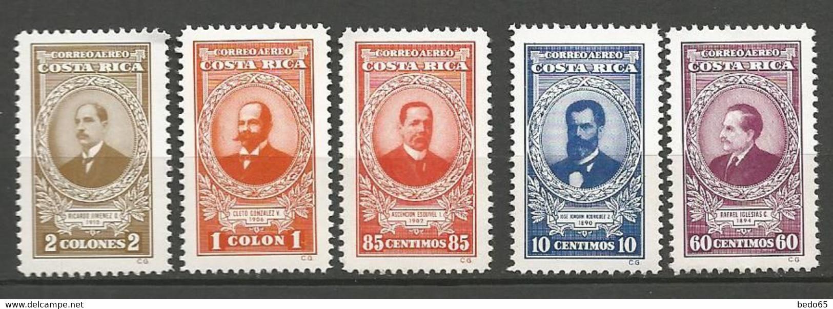 COSTA RICA PA Yvert N° 750 à 754 NEUF** SANS CHARNIERE / MNH - Costa Rica