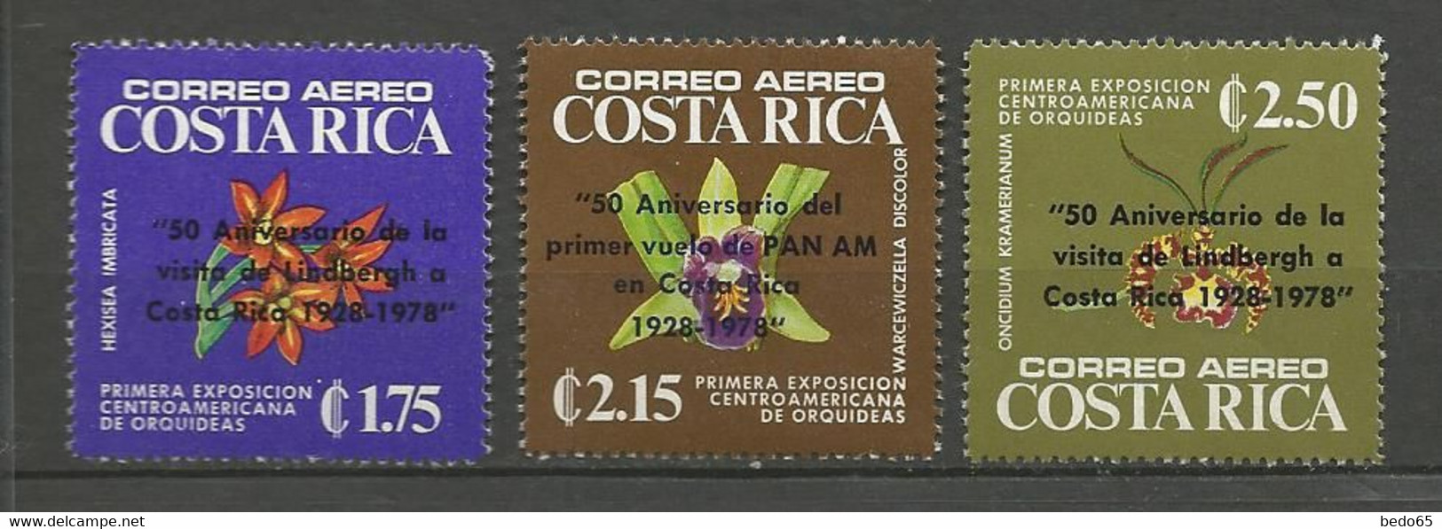 COSTA RICA PA Yvert N° 699 à 701 NEUF** SANS CHARNIERE / MNH - Costa Rica