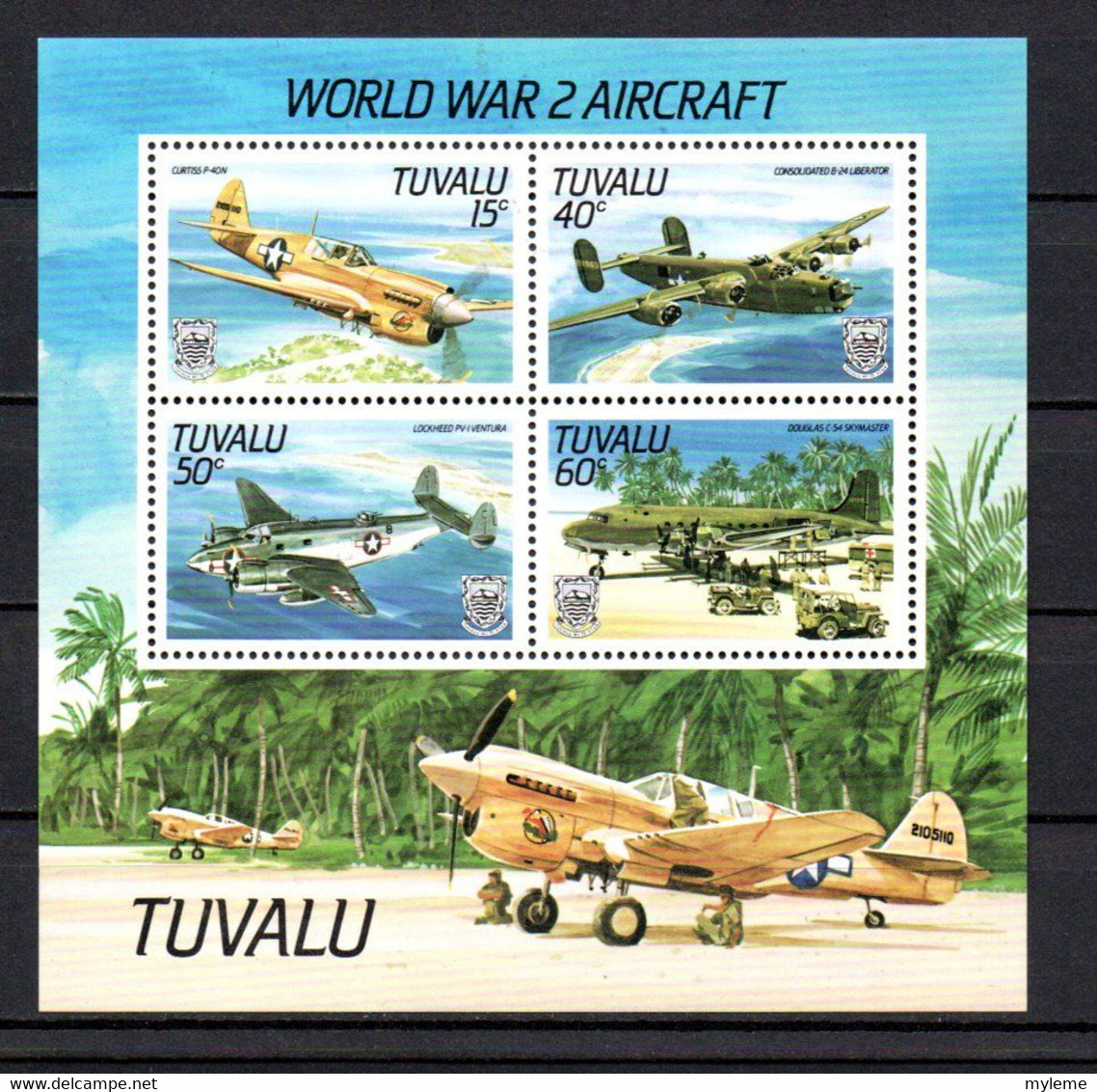 T1-14 Tuvalu N° BF 9  ** A Saisir !!!  Avions - Tuvalu