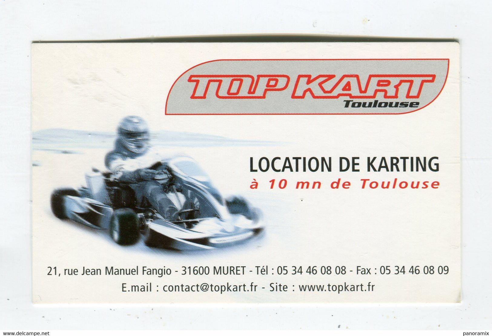 Carte De Visite °_ Carton-Top Kart Toulousain-Location-Circuits31 Muret - Visiting Cards