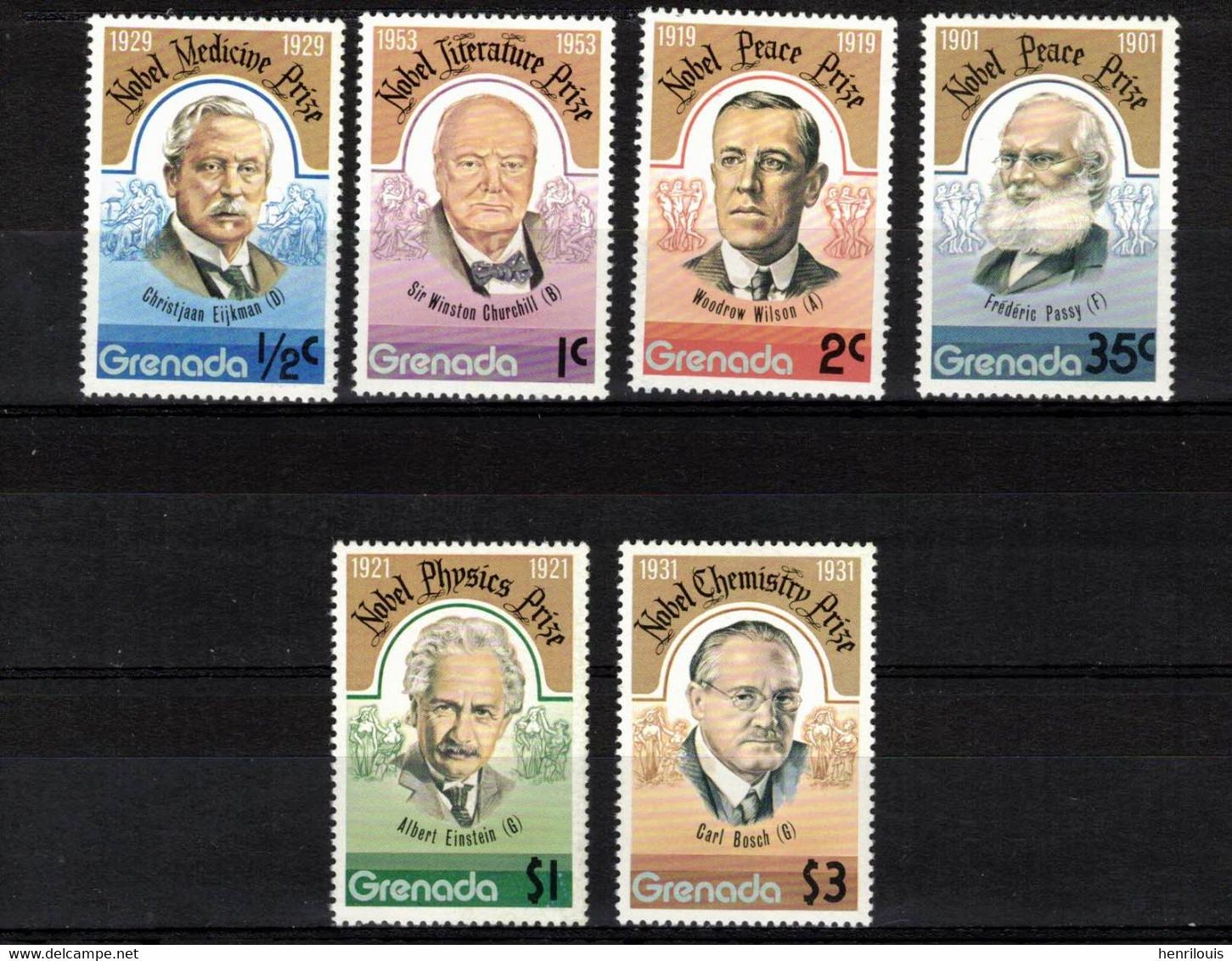GRENADE   Timbres Neufs ** De 1977  ( Ref 2726 A )  Prix Nobel - Grenada (1974-...)