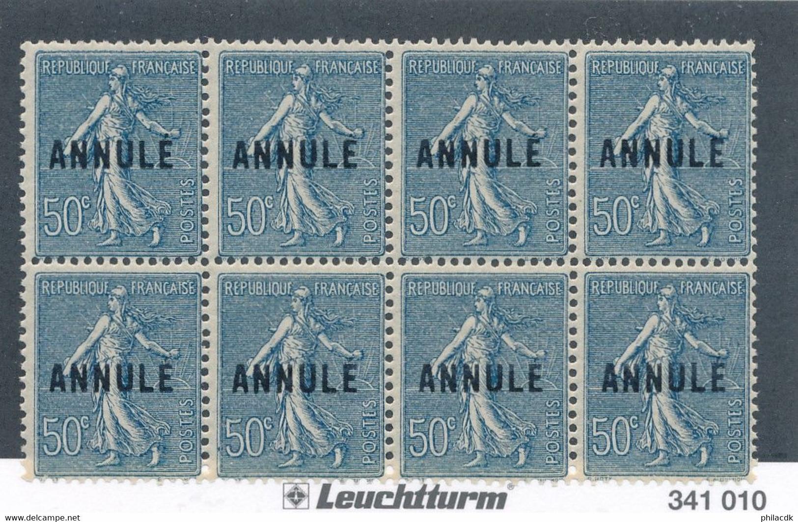 FRANCE - BLOC DE 8 COURS D'INSTRUCTION N° 161-CI2 NEUF* AVEC GOMME ALTEREE - 1923 - COTE MINI : 840€ - Instructional Courses