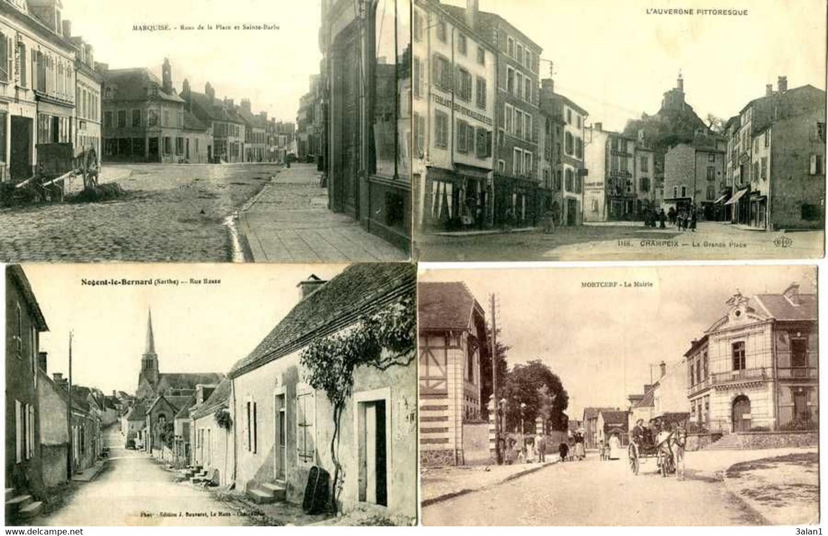 Villages /Bourgs  =  Lot  24 Cartes  (toutes Scannées) - 5 - 99 Postcards