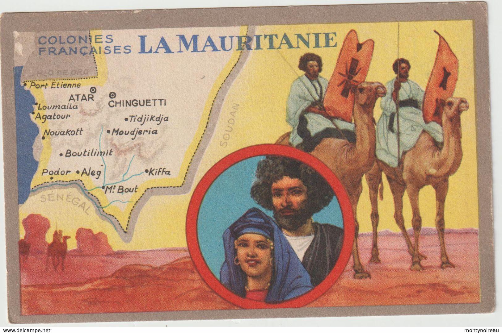 Dav : Carte Publicitaire  Du Lion Noir :  LA  MAURITANIE  , Atar ,chinguetti ,kiffa,aleg... - Advertising