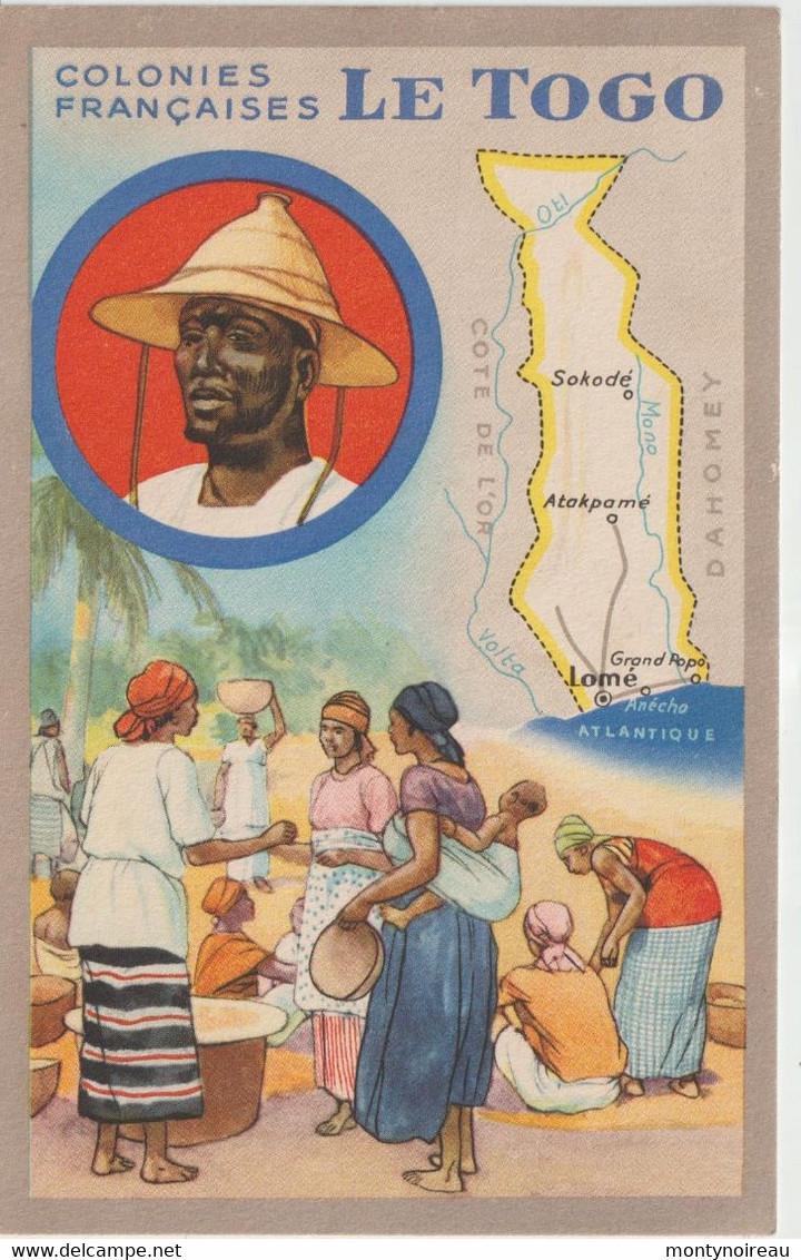 Dav : Carte Publicitaire  Du Lion Noir :  Colonies  Françaises ,le  Togo , Sokodé , Atakpamé , Lomé - Advertising
