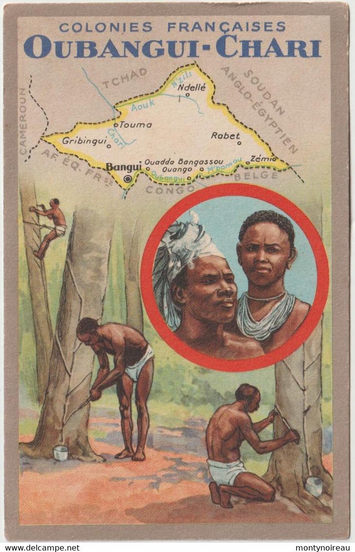 Dav : Carte Publicitaire  Du Lion Noir :  Colonies  Françaises ,Oubangui - Chari ; Rabet , Touma ,bangui - Advertising