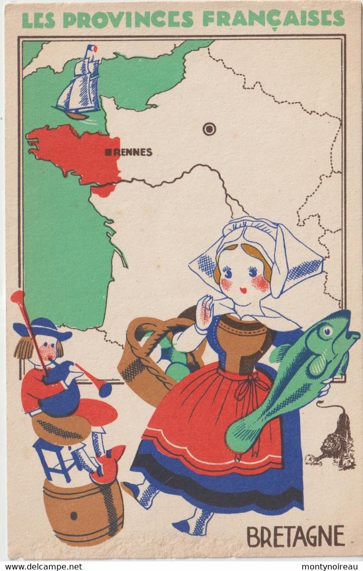 Dav : Carte Publicitaire  Le Lion Noir ;  La  Bretagne , Rennes - Advertising