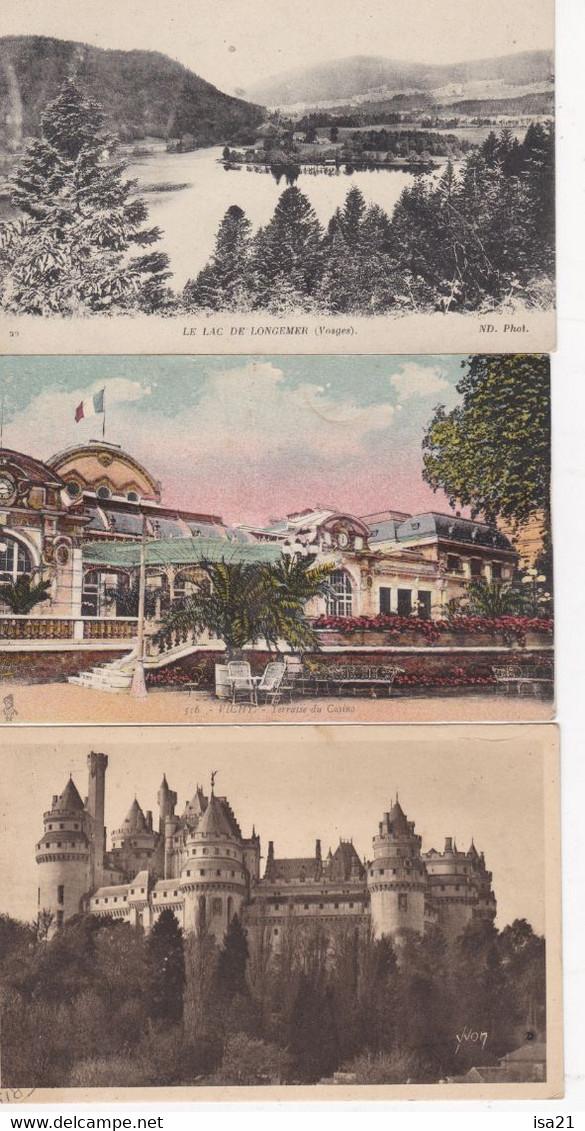 Lot De 40 Cartes Postales CPA: FRANCE, De La Petite Carte, Cartes Scannées.Pas De Paris Ni Lourdes, Versailles... - 5 - 99 Postcards