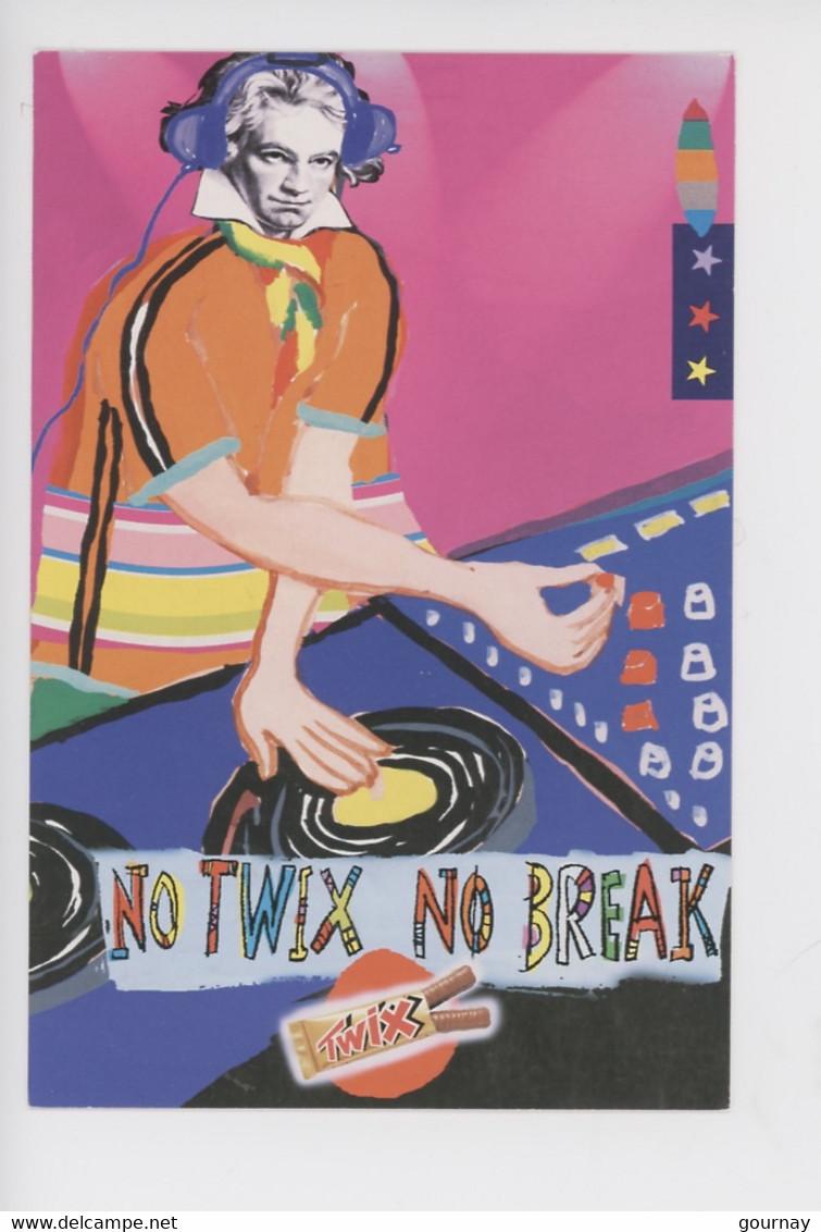 Von Beethoven (portrait) Mixing Beats & Break - No Twix No Break - Cp Vierge (twix 2 Doigts Coupe-faim) - Advertising