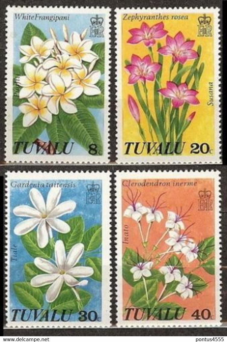 Tuvalu 1978 Mi 79-82 Wild Flowers - MNH - Tuvalu