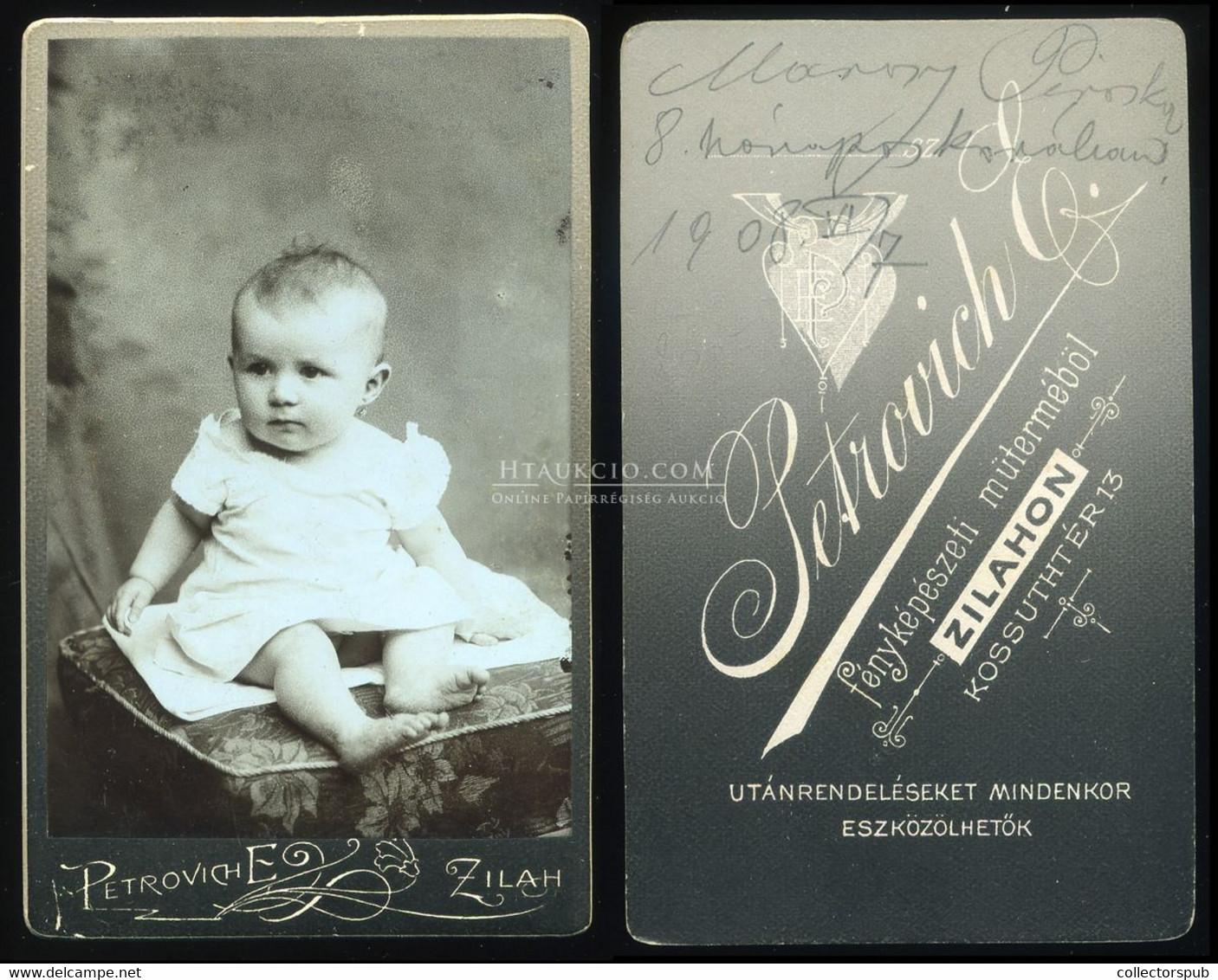 ZILAH  1910. Ca. Petrovich : Régi Visit Fotó - Unclassified