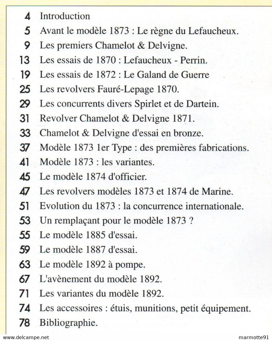 DU MODELE 1873 AU MODELE 1892 REVOLVER ARMEE FRANCAISE ARME REGLEMENTAIRE GUIDE COLLECTION - Armi Da Collezione