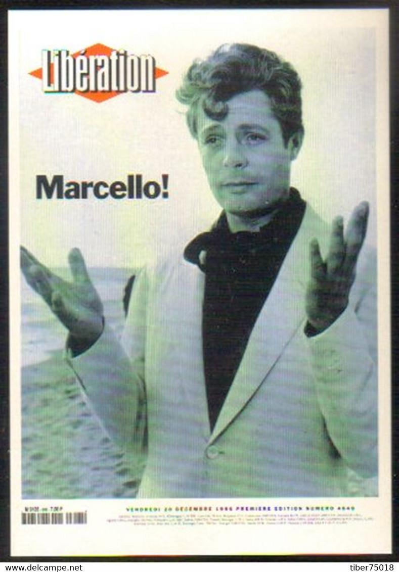 "Carte Postale ""Cart'Com"" (1999) - Libération - La Mort De Marcello Mastroianni - Advertising"