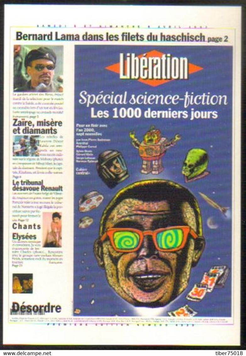 """Carte Postale """"Cart'Com"""" (1999) - Libération - 7 Nouvelles De SF Sur L'an 2000 (illustration : Pierre La Police) - Advertising"""