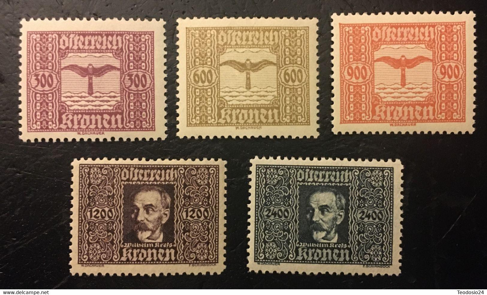 Austria 1922 Mi 425,427-430   Airmail * Mlh - Nuevos