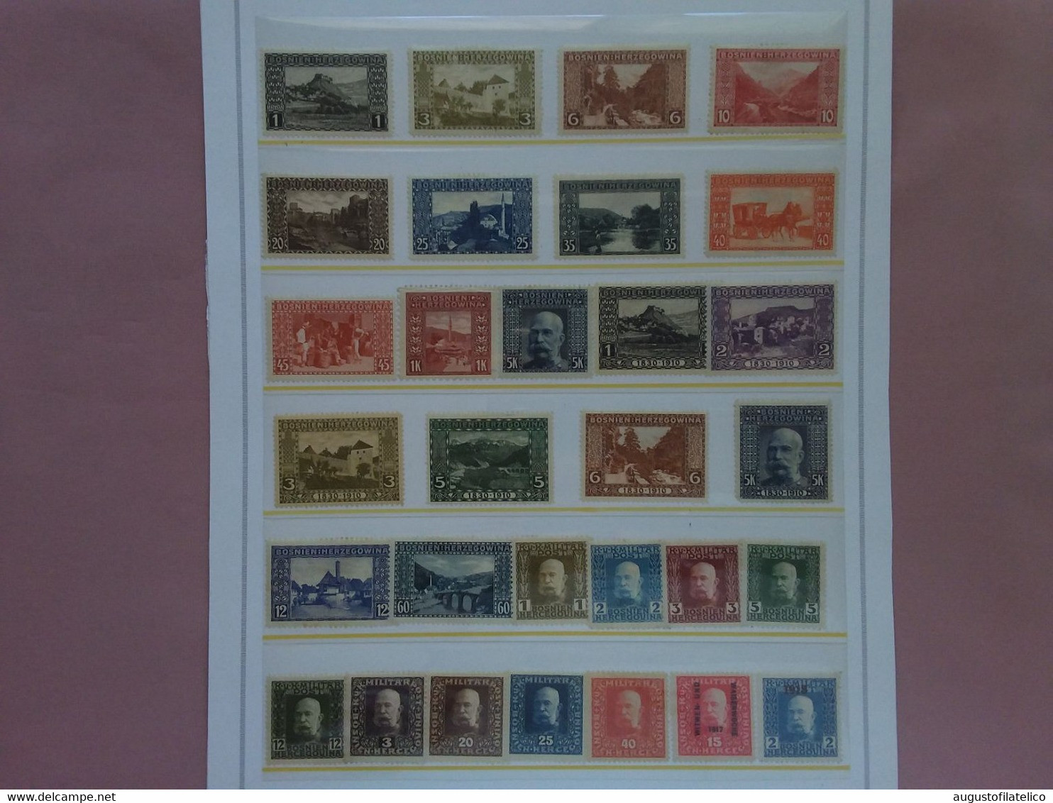 AUSTRIA 1906/18 - Bosnia Erzegovina - Lotto 30 Francobolli Differenti Nuovi * + Spese Postali - Nuevos