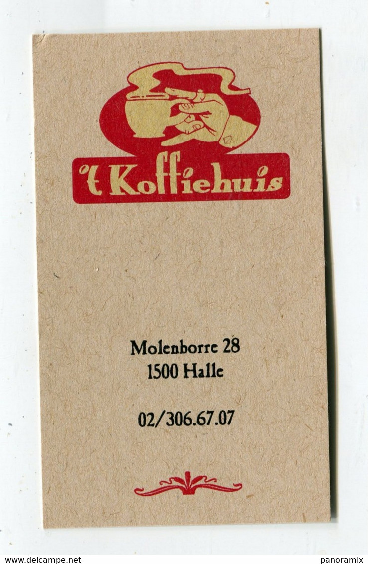 Carte De Visite °_ Carton-Belgique-Koffiehuis-1500.Halle - Visiting Cards