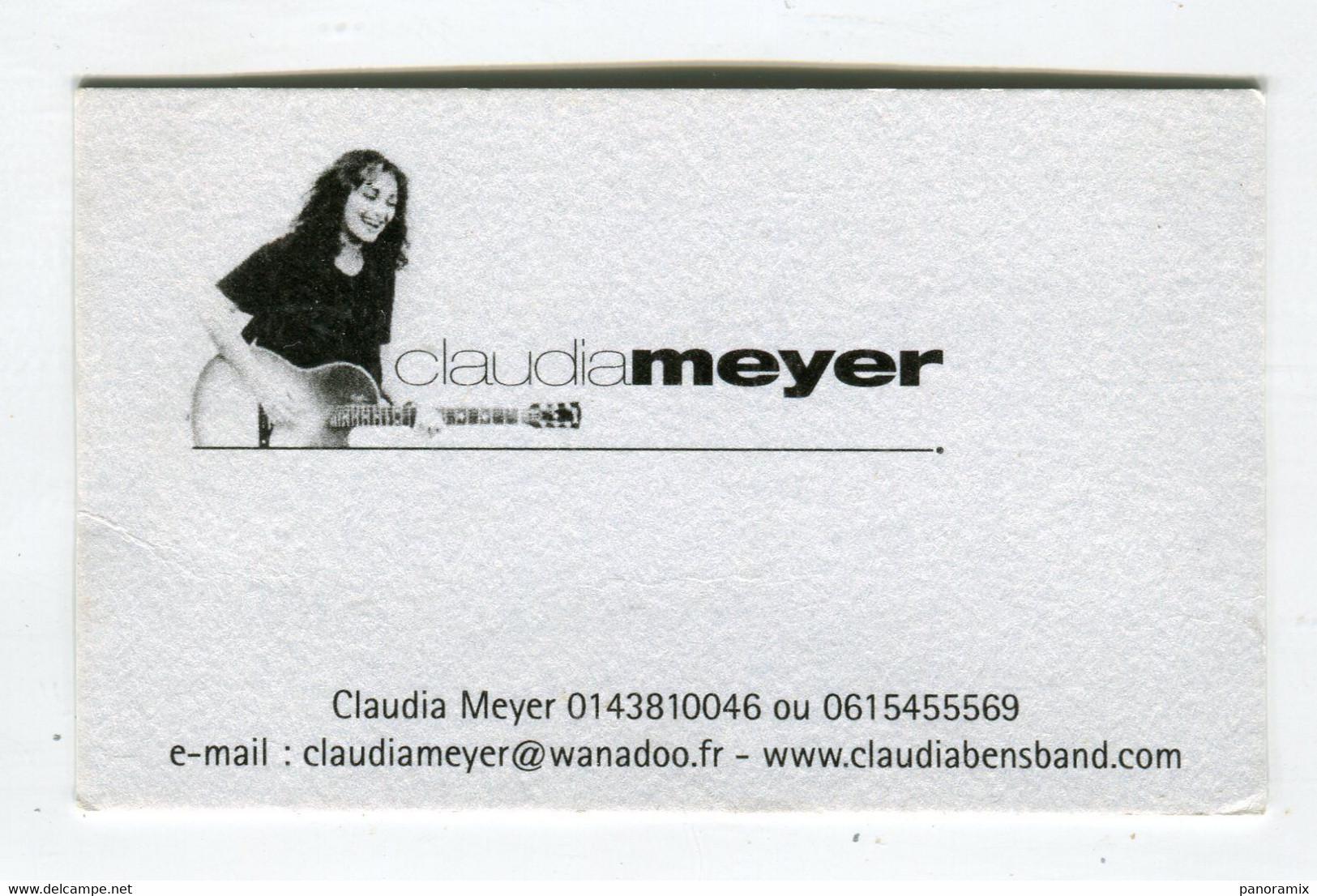 Carte De Visite °_ Carton-Claudia Meyer Band-Artiste Guitariste-Paris - Visiting Cards
