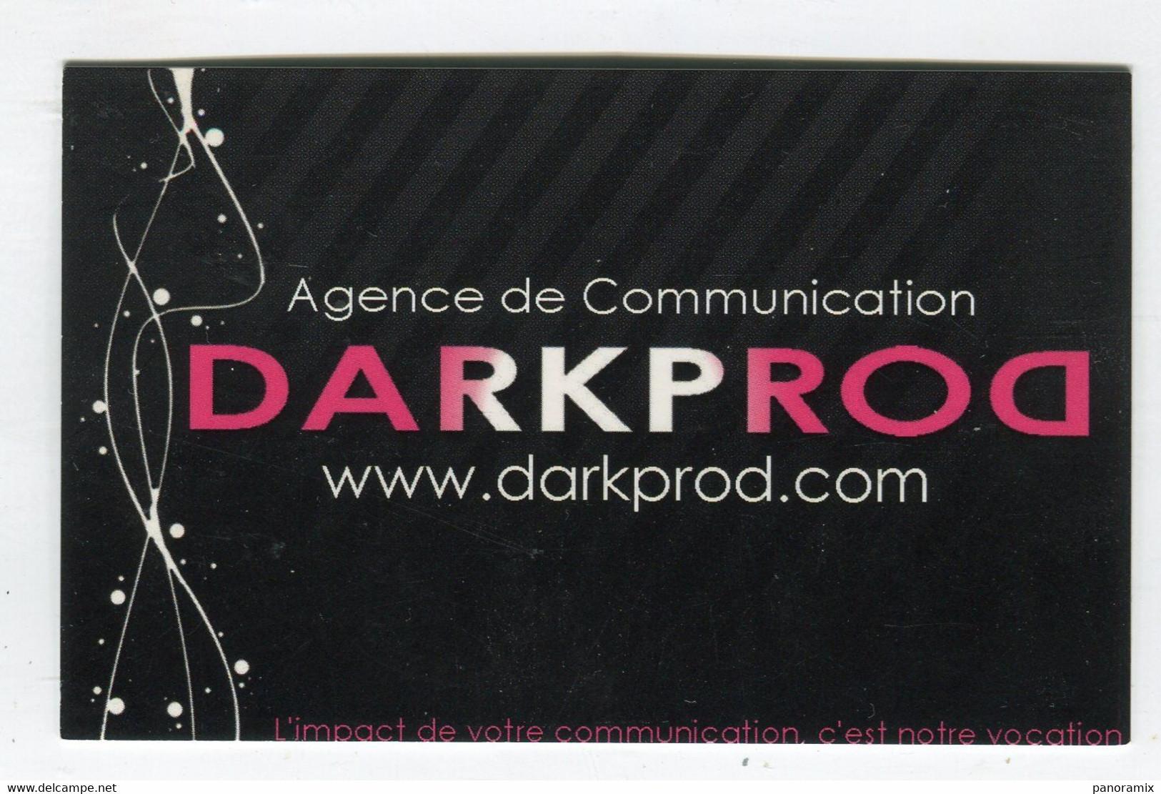 Carte De Visite °_ Carton-Dark Prod-Agence De Communication-Jerome - Visiting Cards