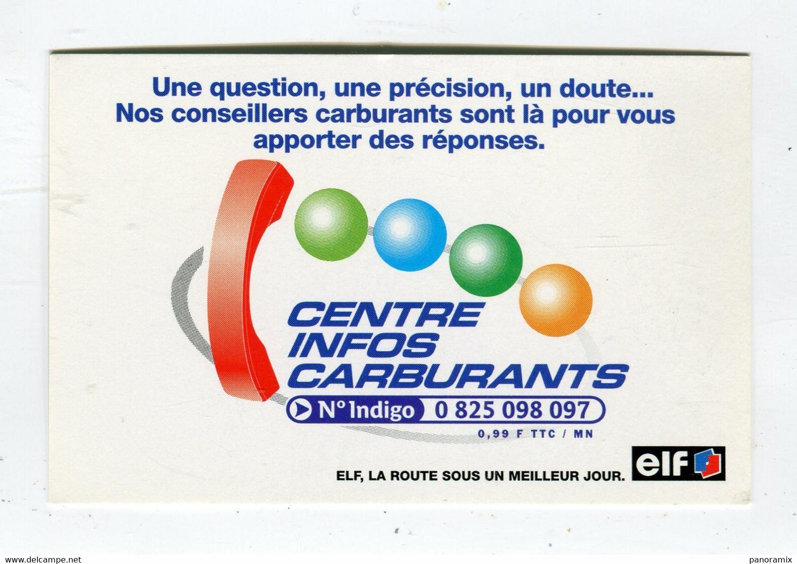 Carte De Visite °_ Carton-Elf-Centre Infos Carburants-0825 - Visiting Cards