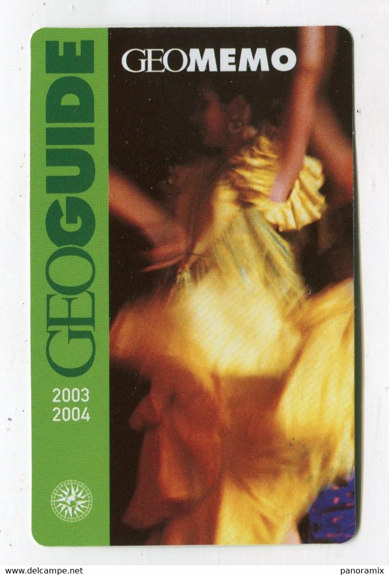 Carte De Visite °_ Carton-Geo Guide-Memo 2003-2004 - Visiting Cards