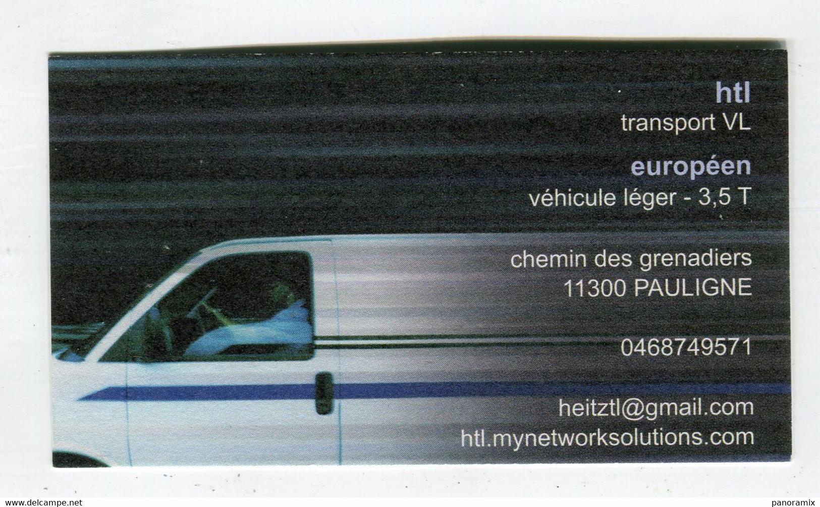 Carte De Visite °_ Carton-HTL-Transport VL Européen-11 Pauligne - Visiting Cards