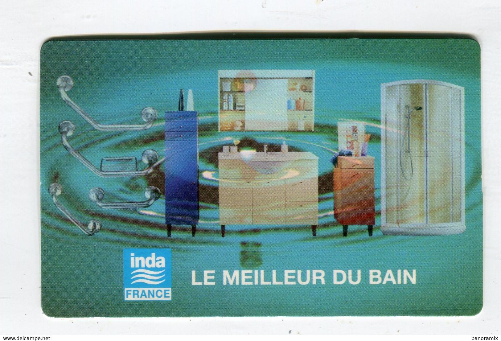 Carte De Visite °_ Carton-Inda-Le Meilleur Du Bain-Elisabeth-78 Guyancourt - Cartoncini Da Visita