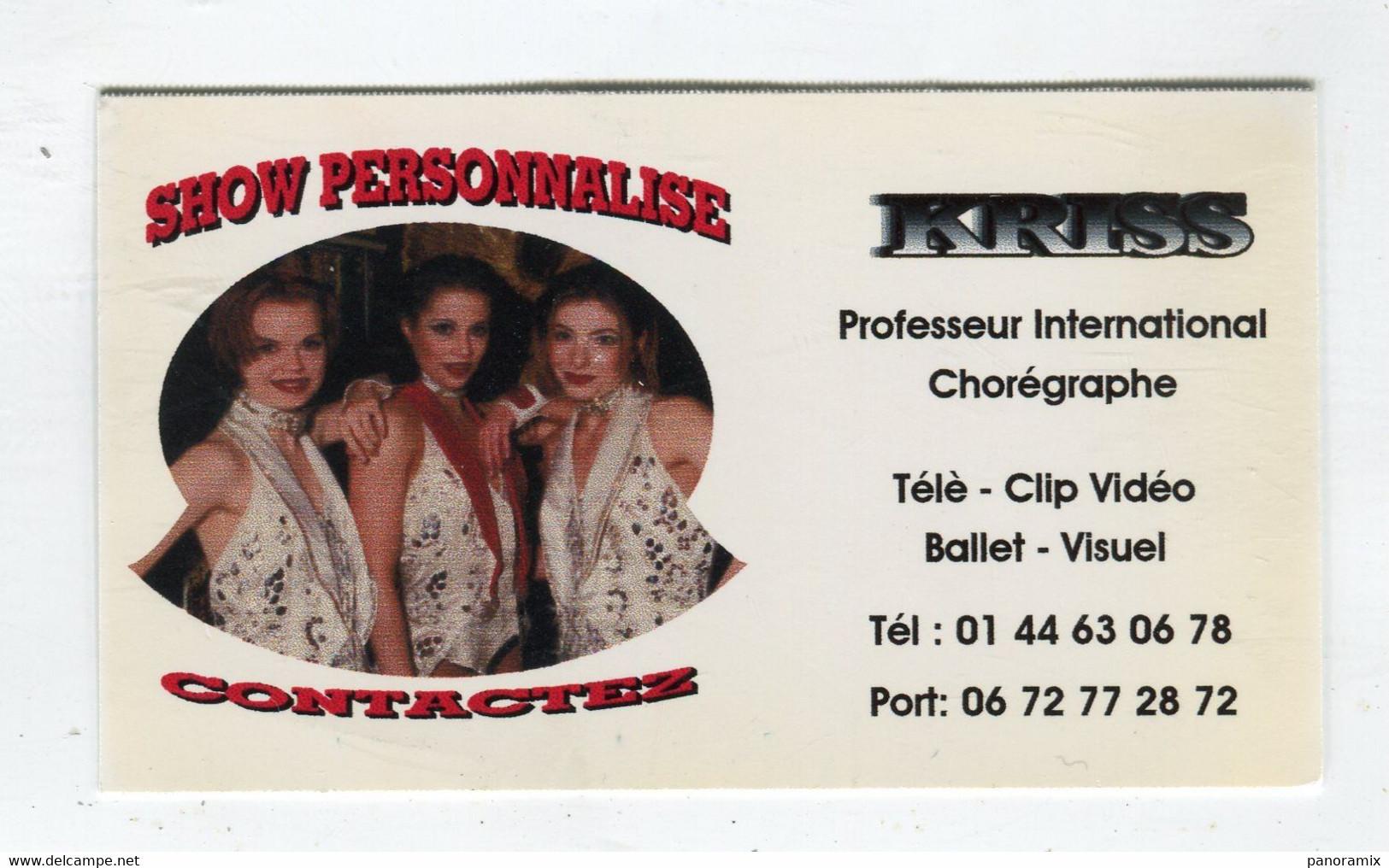 Carte De Visite °_ Carton-Kriss-Professeur Chorégraphe-Shows- 75 Paris - Visiting Cards