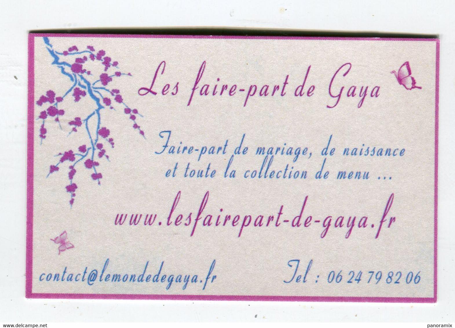 Carte De Visite °_ Carton-Les Faire.Part De Gaya-Contact 06 - Visiting Cards