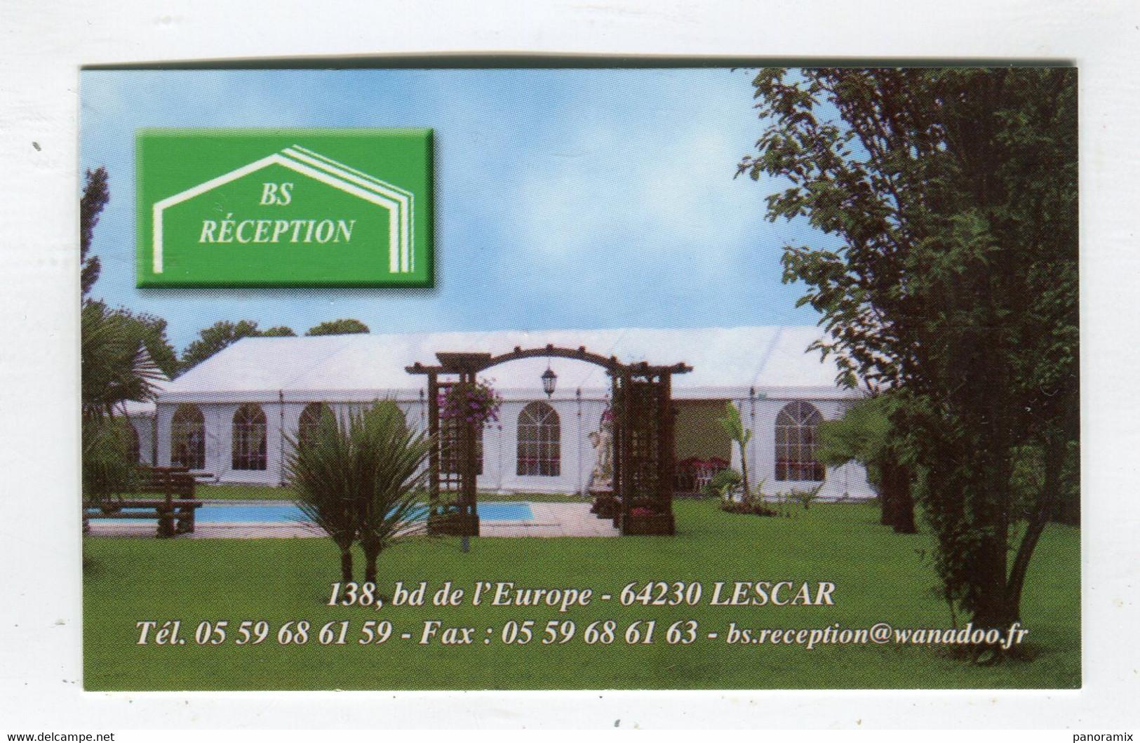 Carte De Visite °_ Carton-Location Pour Réceptions-Devis-64 Lescar - Visiting Cards