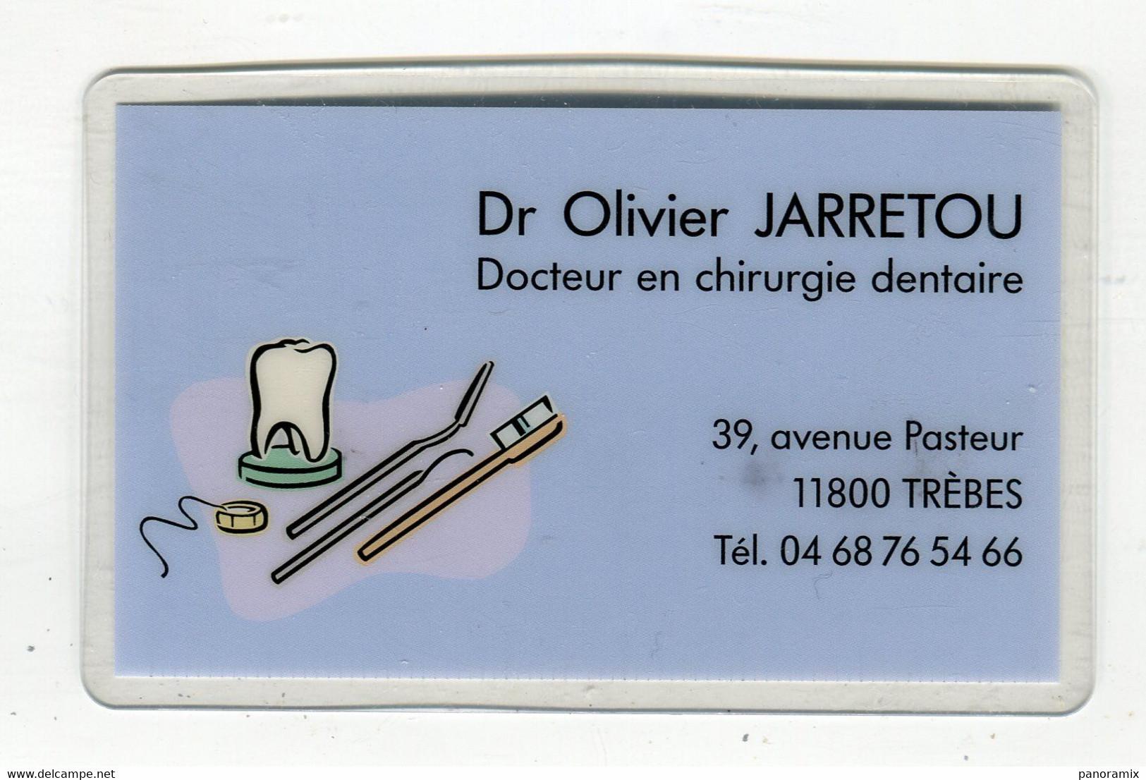 Carte De Visite °_ Plastique-Dentiste-Olivier-11 Trèbes-Verso Cal Poche 2009 °°° R/V - Visiting Cards