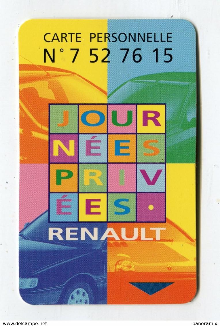 Carte De Visite °_ Plastique-Jeu Renault-24 Clio-Juin 1996 °°° - Visiting Cards