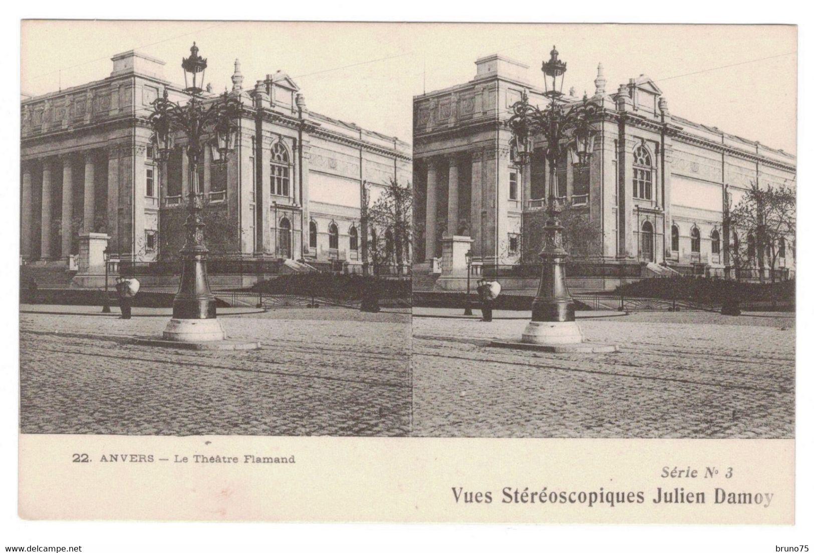 ANVERS - Le Théâtre Flamand - Vues Stéréoscopiques Julien Damoy - 22 - Série N° 3 - Cartoline Stereoscopiche
