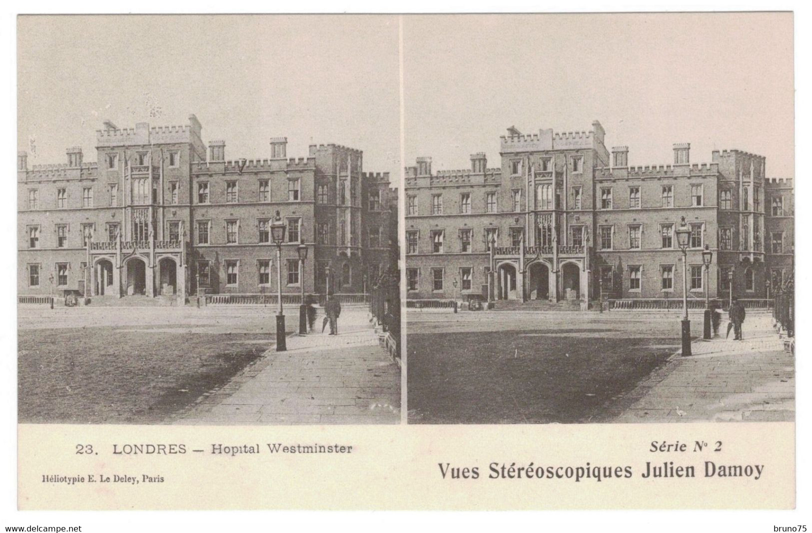 LONDRES - Hopital Westminster - Vues Stéréoscopiques Julien Damoy - 23 - Série N° 2 - Cartoline Stereoscopiche