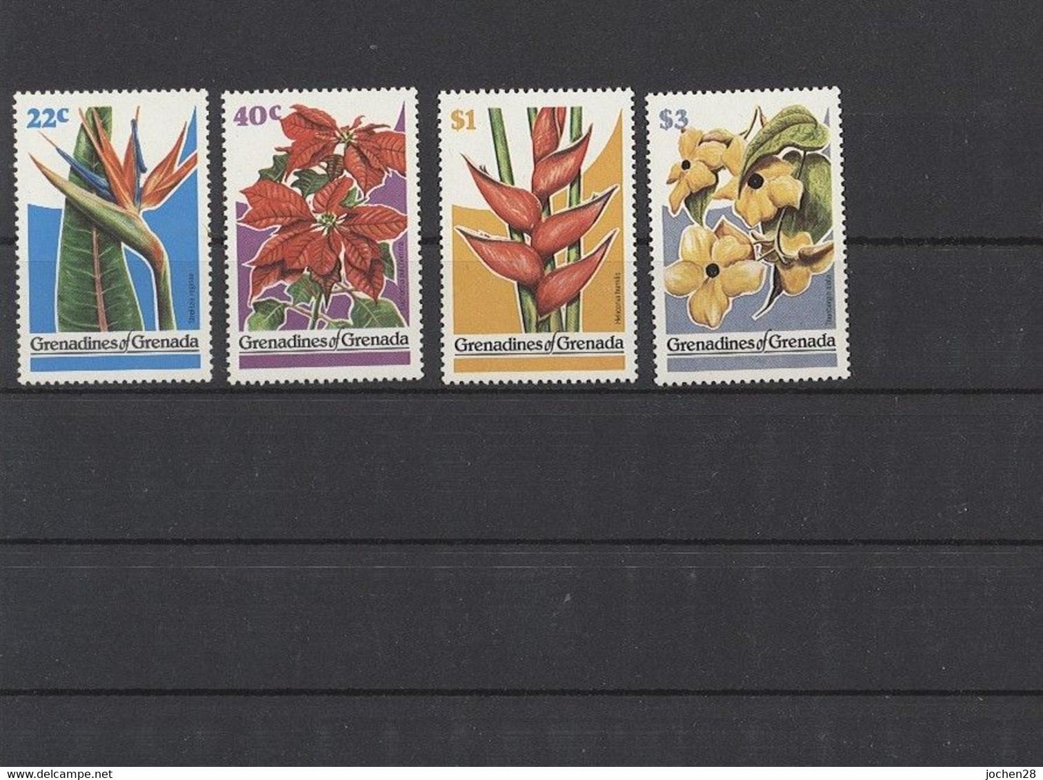 Grenada/Grenadinen 1979 - MiNr. 320/3 - Blumen - Postfrisch - MNH - ** - Grenada (1974-...)