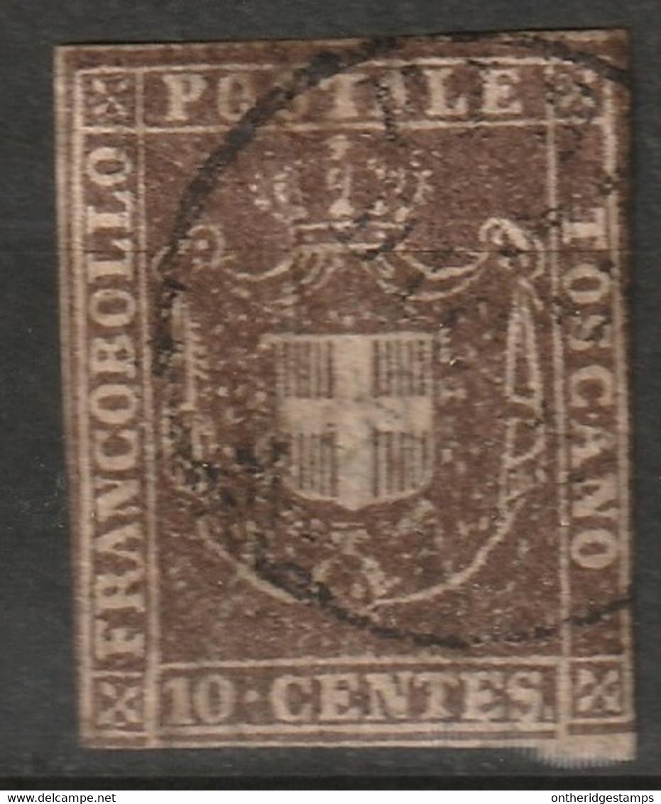 Italy Tuscany 1860 Sc 19 Toscana Sa 19 Used Deep Brown Small Thin - Toskana