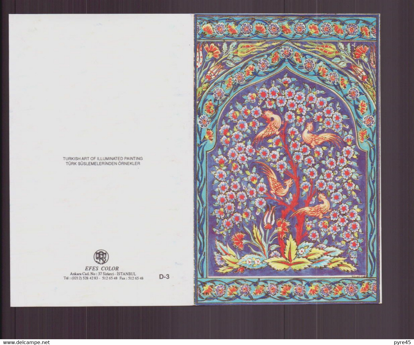 Carte De Visite Vierge ( Oiseaux Et Fleurs ) - Visiting Cards