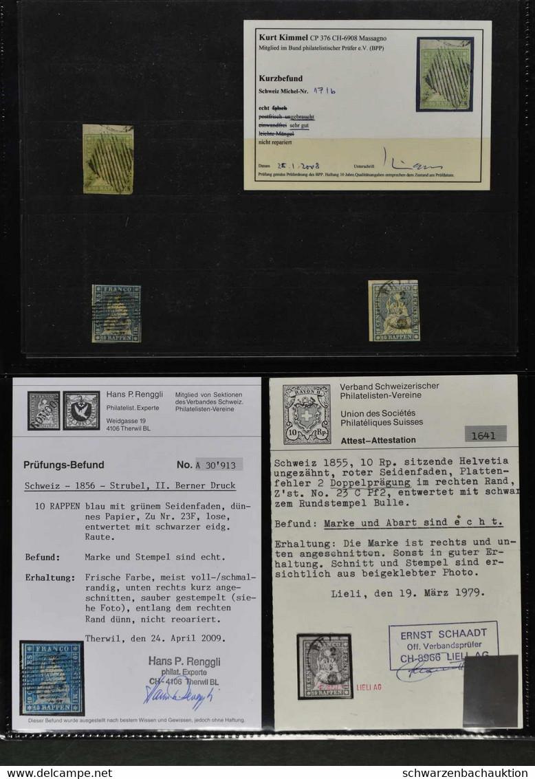 Gemischter Nachlassposten Ab Bundesmarken, Mit 1 Ortspost, 12 Rayons, 55 Strubel U. 14 Strubelbriefe (diese Oft Von BREN - Collections