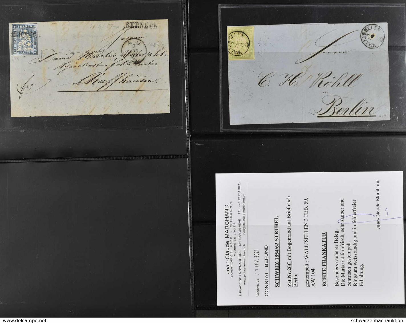 Sauberer Posten 42 Strubelbriefe Der Ausgaben A-G Meist Gut Erhalten, Dabei 26Aa Einzelfrankatur Auf Vorderseite Von Ber - Covers & Documents